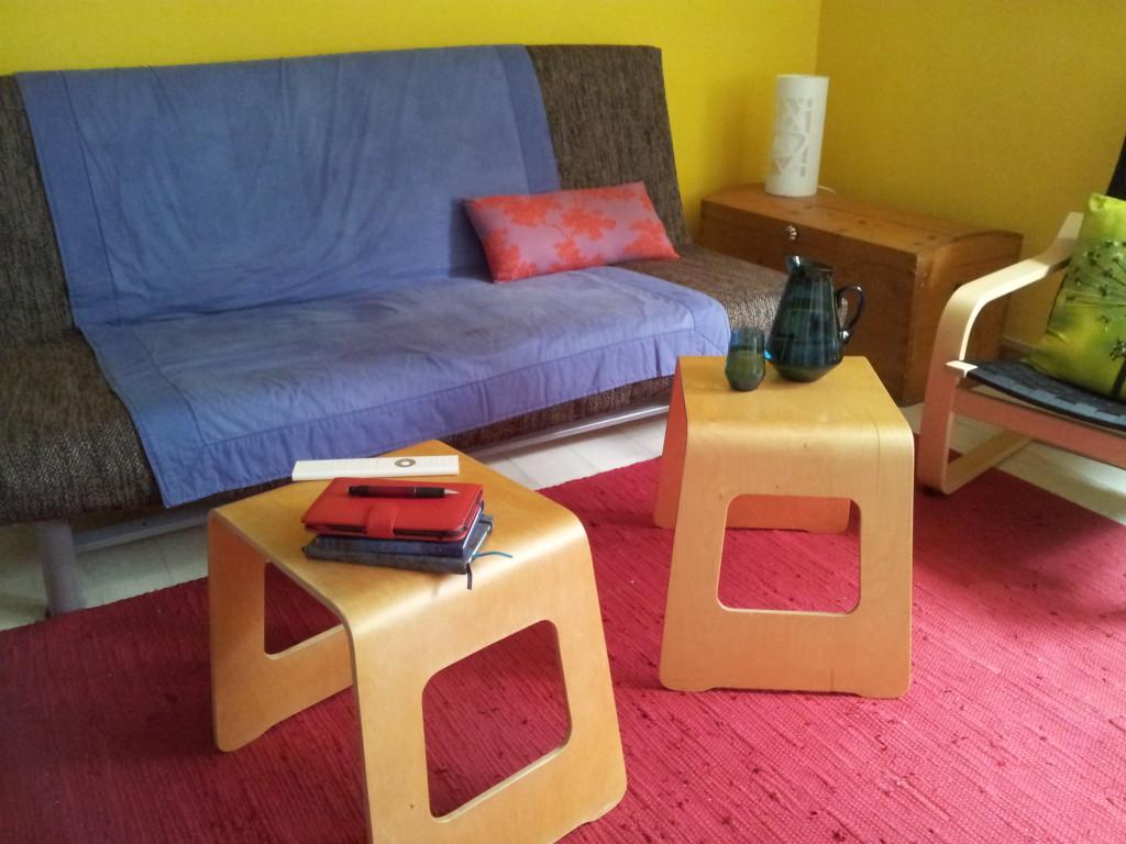 Wohnzimmer ohne Tisch