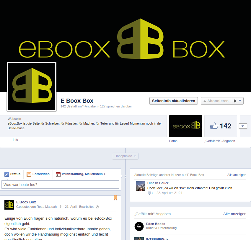 eBooxBox Facebook