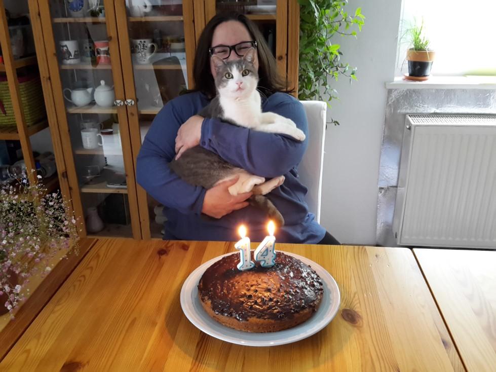 Louie und ich an seinem 14. Geburtstag