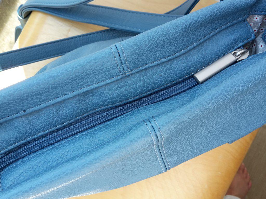 Reißverschluss der Handtasche Mademoiselle M8 von Zwei